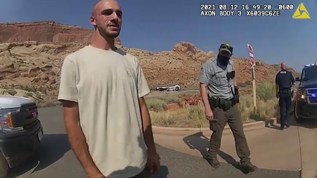 The Moab Police Department released the body camera footage of the incident involving Gabby Petito and her fiancé Brian Laundrie on Sept. 16, 2021 (Moab Police Department).
