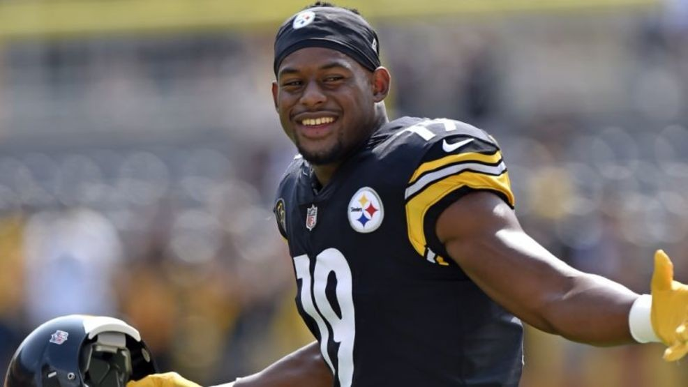 b6a679c4655 Steelers rookie wide receiver JuJu Smith-Schuster has been suspended one  game by the NFL. (AP photo)