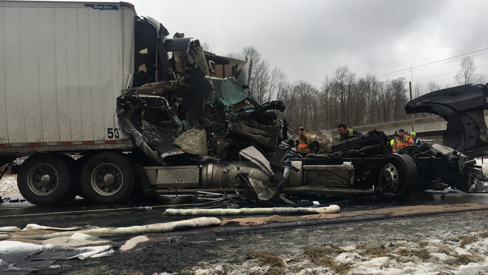 1 hurt in tractor-trailer crash on I-80 in Clearfield County   WJAC