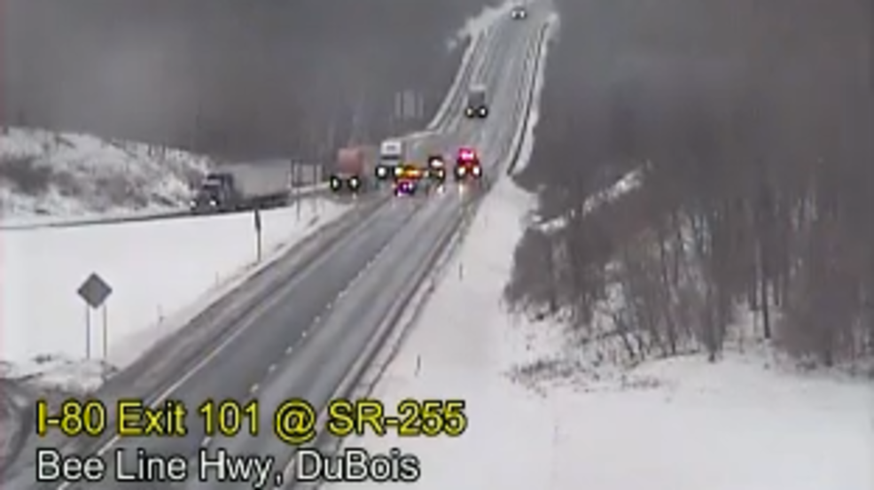 Multiple crashes reported on I-80 due to weather conditions
