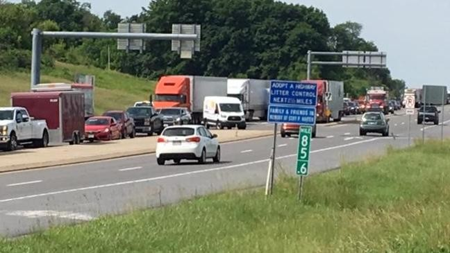 I-99 Tractor trailer crash causes traffic problems in Spring