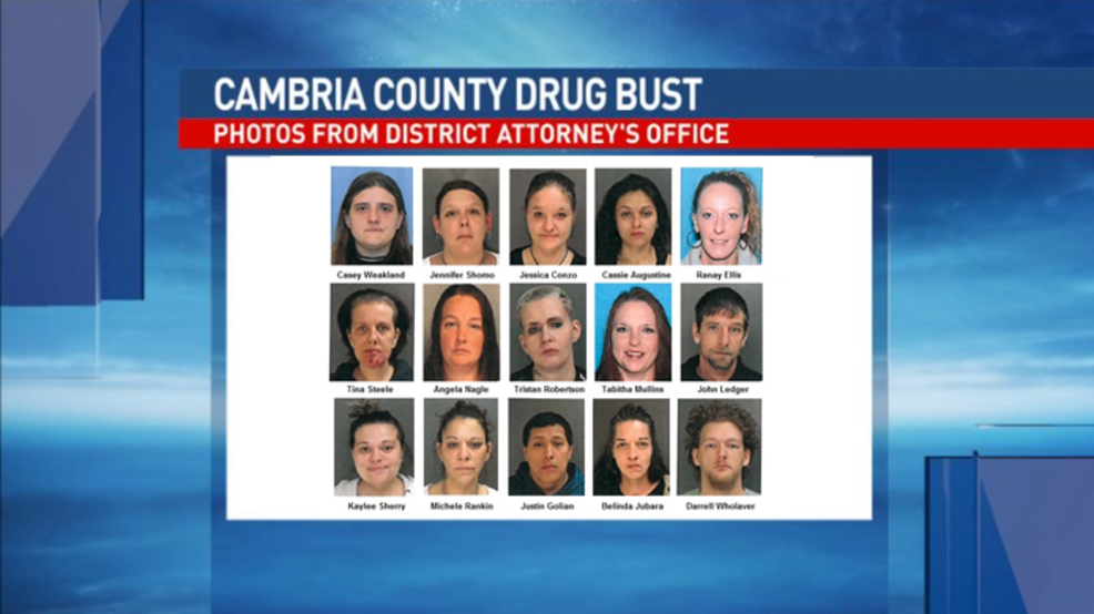 22 face charges in Cambria County drug bust | WJAC