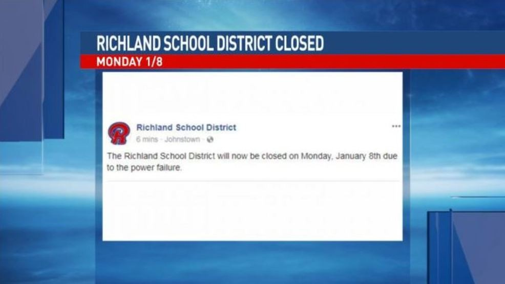 Richland School District closed due to power outage | WJAC